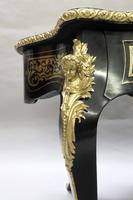French Napoleon III Ebony and Inlaid Bureau Plat by Millet (8 of 11)