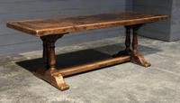 Wonderful French Chestnut Farmhouse Refectory Dining Table (30 of 37)