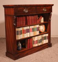 19th Century Mahogany Open Bookcase with Two Drawers (11 of 12)
