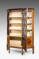 Edwardian Period Mahogany Display Cabinet with Offset Side Panels (4 of 8)