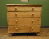 Antique Victorian Stripped Pine Chest of Drawers, Rustic Farmhouse Cottage Chest (5 of 16)