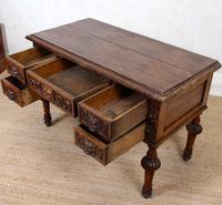 Oak Desk Green Man 19th Century (9 of 13)