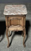 Pair of French Marble Top Bedside Cupboards (4 of 26)