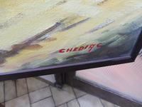 Large oil on canvas tropical sunshine view Brazilian artist Chediac (10 of 10)
