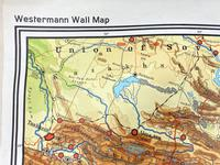 Large Vintage Westermann Wall Map of East & South-East Asia 1960's (5 of 11)