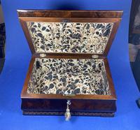 William IV Flame Mahogany Jewellery Box (4 of 20)