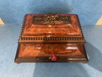 Victorian Burr Cedar & Ebony Shaped Tea Caddy (18 of 20)
