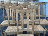 Set of 6 French Bleached Oak Farmhouse Dining Chairs (4 of 13)