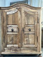 18th Century French Fruitwood Armoire (6 of 19)