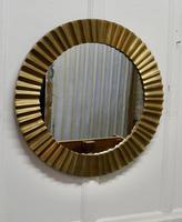 Heavy Brass Art Deco Odeon Sunburst Mirror (2 of 5)