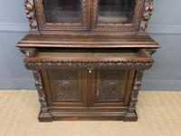 Imposing Carved Oak Bookcase (3 of 23)