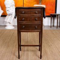 Chest of Drawers Mahogany Bowfront Drop Leaf 19th Century Petite (3 of 11)