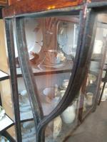 Pair of Edwardian Glazed Mahogany Display Cabinet with 2 Shelves (6 of 8)