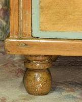 Victorian Stripped Pine Chest of Drawers Sage Painted Trim (6 of 8)