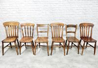 Antique Harlequin Set of 6 Kitchen Chairs (5 of 6)