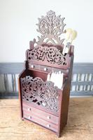 19th Century Scottish Vernacular 'folk Art' Thistle Fretwork Spoon & Candle Box (27 of 36)