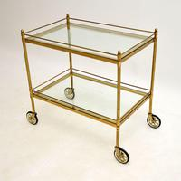 Vintage French Brass Drinks Trolley (3 of 10)