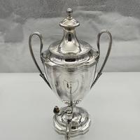 Antique George III Sterling Silver Tea Urn London 1796 Peter & Ann Bateman (6 of 12)