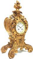 Impressive Candelabra Clock Set French Rococo Ormolu Bronze Mantel Clock. (5 of 10)