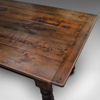 Very Large 13' Antique Dining Table, English, Pine, Country House, Victorian (7 of 12)
