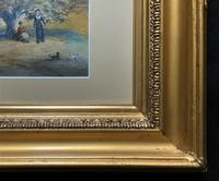 Fine 19th Century Regency Gilt Show-Framed Castle Landscape Watercolour Painting (4 of 14)