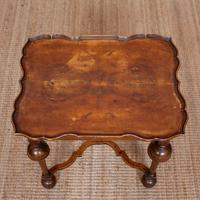 Walnut Side Table Continental Queen Anne Carved Lamp Table (12 of 12)