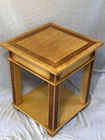 Art Deco Style 20th Century French Blonde Wood Side Table (2 of 13)