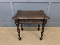 Good 19th Century Carved Oak Table (12 of 15)