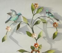 Pretty Pair of Vintage Metal Wall Sconce (3 of 6)