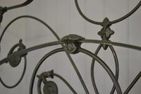 Antique Victorian Brass & Iron King Size 5ft Bedstead (12 of 14)