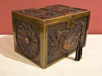 Continental 19th Century Carved Oak Casket Box (4 of 8)