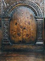 Rare English Charles II Oak Wainscot Armchair Likely to be from Battle Abbey c.1660-1685 (2 of 20)