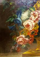 18th Century French Oil Painting. Still Life of Flowers. Artist: J. L Boizet 1789 (5 of 11)