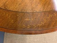 "Inlaid Mahogany ""Zodiac"" Drum Table by Jas Shoolbred (5 of 20)"