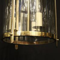 French Set of 3 Convex Antique Hall Lanterns (8 of 10)