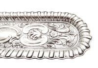 Antique Edwardian Sterling Silver Pen Tray 1902 (5 of 7)