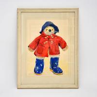Vintage Paddington Bear Original Watercolour Painting