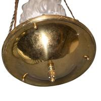 1920's Light Fitting with Flambeau Shade (3 of 3)