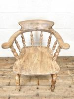 Pair of Antique Smoker's Bow Chairs (6 of 10)