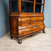 Marquetry Bombe Fronted Display Cabinet (2 of 14)