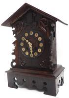 Rare Cuckoo Mantel Clock – German Black Forest Carved Bracket Clock (3 of 12)