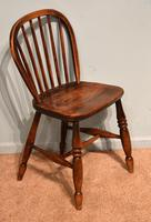 Victorian Ash & Elm Kitchen Dining Chairs (5 of 6)
