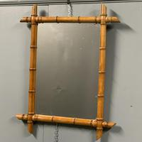 Pair of mid size faux bamboo mirrors (7 of 7)