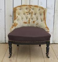 Antique French Button Back Tub Chair (2 of 8)