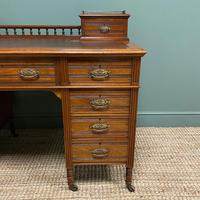 High Quality Victorian Maple & Co Antique Pedestal Desk (3 of 9)