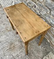 Antique Pine Side Table with Drawer (7 of 14)