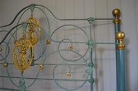 Antique Victorian Brass & Iron Bed 5ft Kingsize Bedstead Sympathetically Restored (14 of 17)