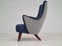 Danish Design 1960s, Restored Armchair, Nevotex Furniture Wool (2 of 14)