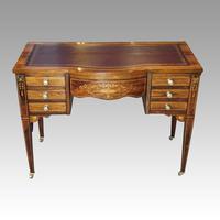 Edwardian Inlaid Rosewood Writing Table