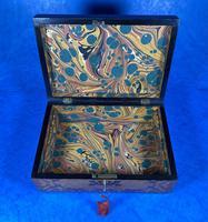 William IV Burr Maple & Rosewood Jewellery Box (9 of 12)